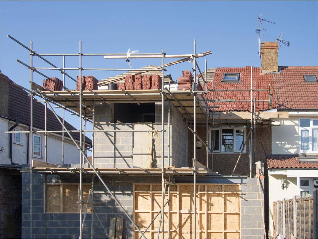 Scaffolding For House Building A House